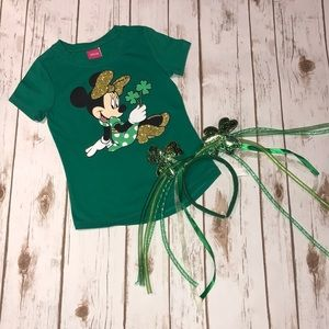 ☘️Girl's Minnie Mouse St Patrick's Day shirt ☘️